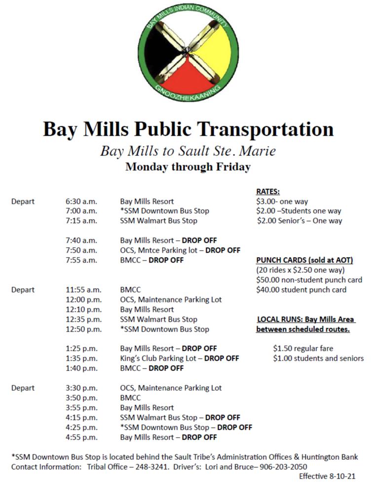BMPT Bus Schedule Updated 2021 August 10